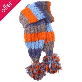 Boys Verbier Knitted Scarf - Grey