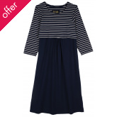 Frugi Long Sleeve Nursing Dress - Navy Iris
