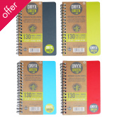"A6 Bamboo Paper Notebook - 4"""" x 6"""" - 65 Ruled Sheets - Assorted Colours"