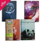 "A4 Bamboo Paper Notebook - 5.75"""" x 8.5"""" - 60 Ruled Sheets - Assorted Designs"