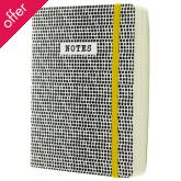 Monochrome Dots Notebook - A6