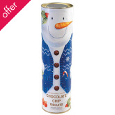 Farmhouse Giant Snowman Biscuit Tube - Chocolate Chip