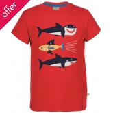 Frugi Stanley Applique Shark T-Shirt
