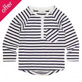 Sense Organics Enio Raglan Long Sleeved Striped Shirt - Navy