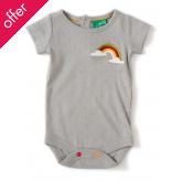 Rainbow Pointelle Baby Body - Moondust