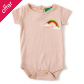Rainbow Pointelle Baby Body - Cloud Pink