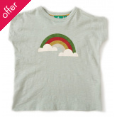Slub Jersey Baby T-Shirt - Over the Rainbow