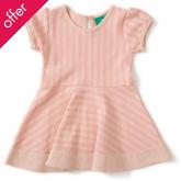 Forever Cloud Pink Striped Skater Dress