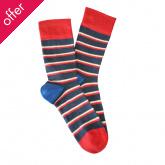 Doris & Dude Kids Stripe Bamboo Socks - Blue