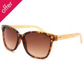 Graduated Oversized Bamboo Sunglasses - Tortoise Shell