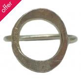 People Tree Silver Circle Ring