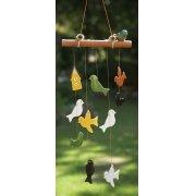 Ceramic Birds Windchime