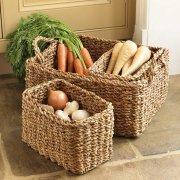 Rectangle Woven Hogla Baskets (set of 3)