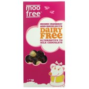 Dairy Free Cranberry & Hazelnut Chocolate Bar 100g