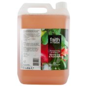 Faith In Nature Pomegranate & Rooibos Shower Gel & Foam Bath - 5L