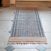 Handwoven Jute & Wool Runner Rug