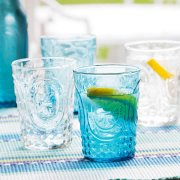 Vintage Design Glass Tumblers - Set of 4