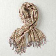 Multi Stripe Cotton Mix Scarf