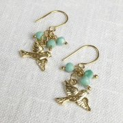 People Tree Enamel Birds Earrings