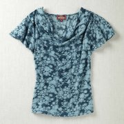 Nomads Daisy Print Cowl Neck Top
