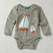 Ships Ahoy! Bodysuit (Grey Marl)