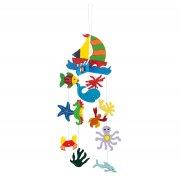 Decorative Wooden Sea Life Mobile
