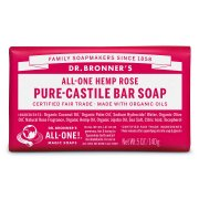 Dr Bronner Organic Rose Soap Bar - 140g