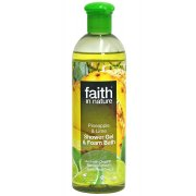 Faith in Nature Shower Gel & Foam Bath - Pineapple & Lime - 400ml