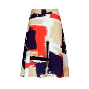 Nancy Dee Dolly Paint Print A-Line Skirt
