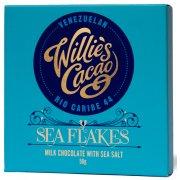 Willies Cacao Sea Flake - Milk Chocolate with Sea Salt Bar - 50g
