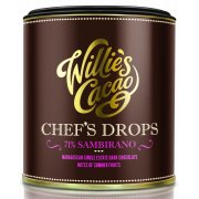 Willies Cacao Madagascan Chefs Drops Cooking Chocolate - 71% Sambirano - 150g