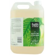 Faith in Nature Shower Gel & Bath Foam - Mint - 5L