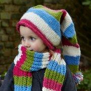 Girls Verbier Papa Noel Knitted Hat - Rose