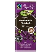 The Raw Chocolate Co Pitch Dark Chocolate Bar - 44g