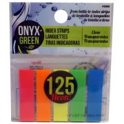 Recycled PET Self-Adhesive Index Strips - 5 Rainbow Colours - 125 Pack