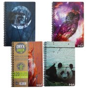 """A5 Bamboo Paper Notebook - 5.75"""""""" x 8.5"""""""" - 60 Ruled Sheets - Assorted Designs"""
