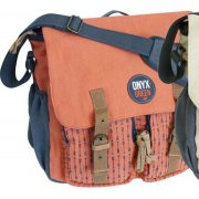 Ramie Leaf & Jute Messenger Bag - Coral