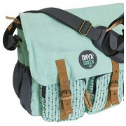 Ramie Leaf & Jute Messenger Bag - Mint