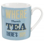Home Front Ceramic Mug - Where There's Tea There's Hope - 400ml
