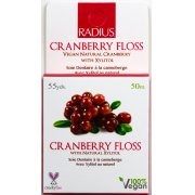Radius Vegan Xylitol Dental Floss - Cranberry - 50 Metres