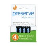 Preserve Replacement Razor Blades - 4pk
