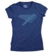 Silverstick Womens Logo Organic Cotton T-shirt - Navy