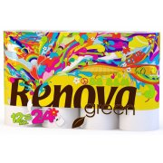 Renova Green 100% Recycled Toilet Paper - Bio Balm Care - 12 Pack