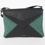 Skunkfunk Cugula Vegan Leather Envelope Bag - Dark Green