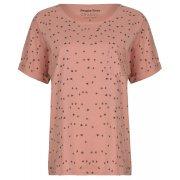People Tree  Bird Print Short Sleeve Pyjama Top - Pink