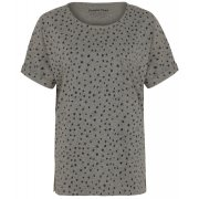 People Tree Stars Print Short Sleeve Pyjama Top - Grey