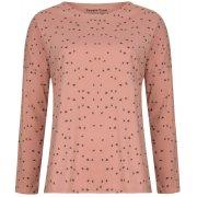 People Tree Bird Print Long Sleeve Pyjama Top - Pink