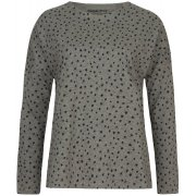 People Tree Stars Print Long Sleeve Pyjama Top - Grey