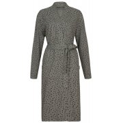People Tree Stars Print Dressing Gown Robe - Grey