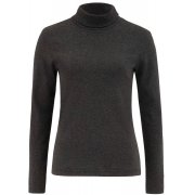 People Tree Organic Roll Neck Top - Dark Grey